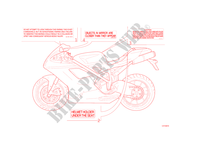 WARNING LABEL voor Ducati 848 EVO Corse 2013