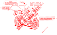WARNING LABEL (USA) voor Ducati 916 1994